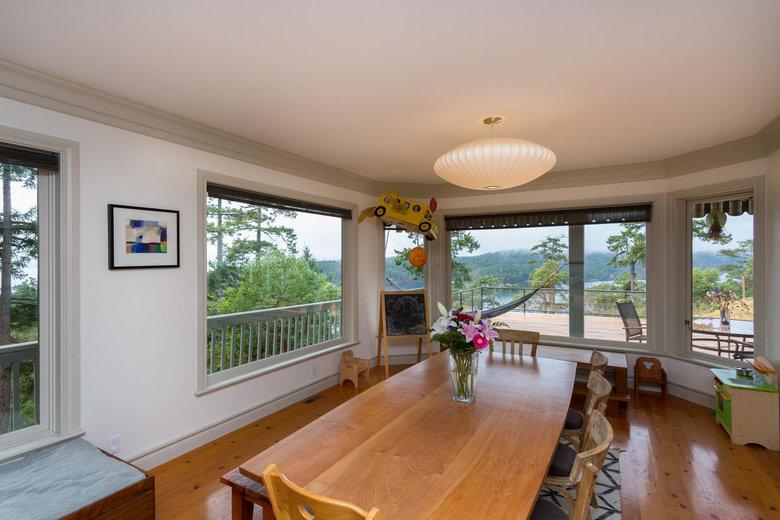 spacious dining room