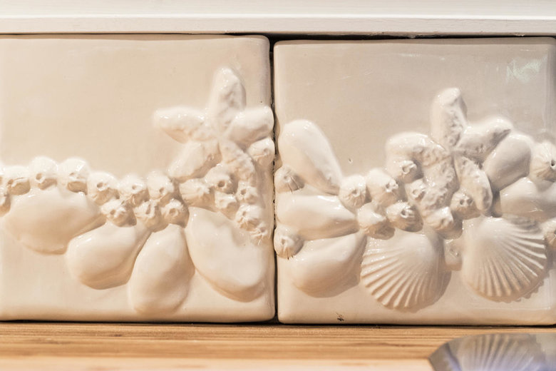 handmade tiles in the kitchen