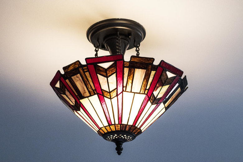 stained glass ceiling lamp