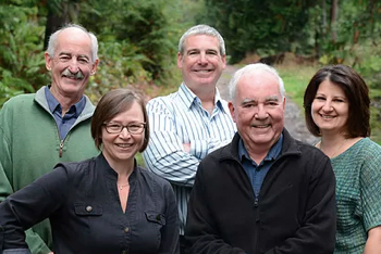 Team members of Dockside Realty on Pender Island