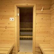 An immaculate sauna