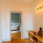 view to master bath with walk through closet