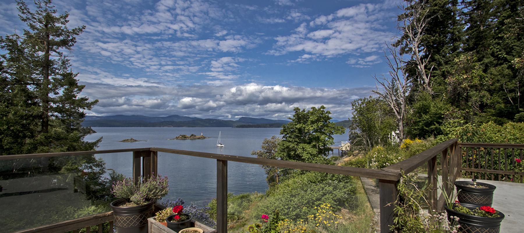 Ocean-view deck Pender Island
