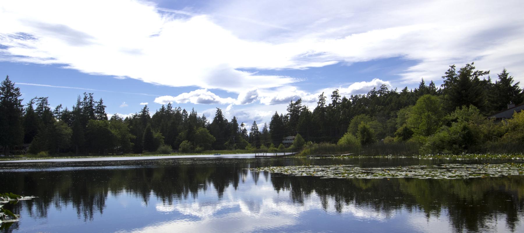 Sunny lakefront lot, Pender Island